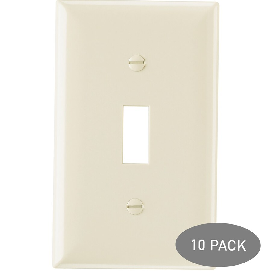 Legrand 10-Pack 1-Gang Light Almond Single Toggle Wall Plates