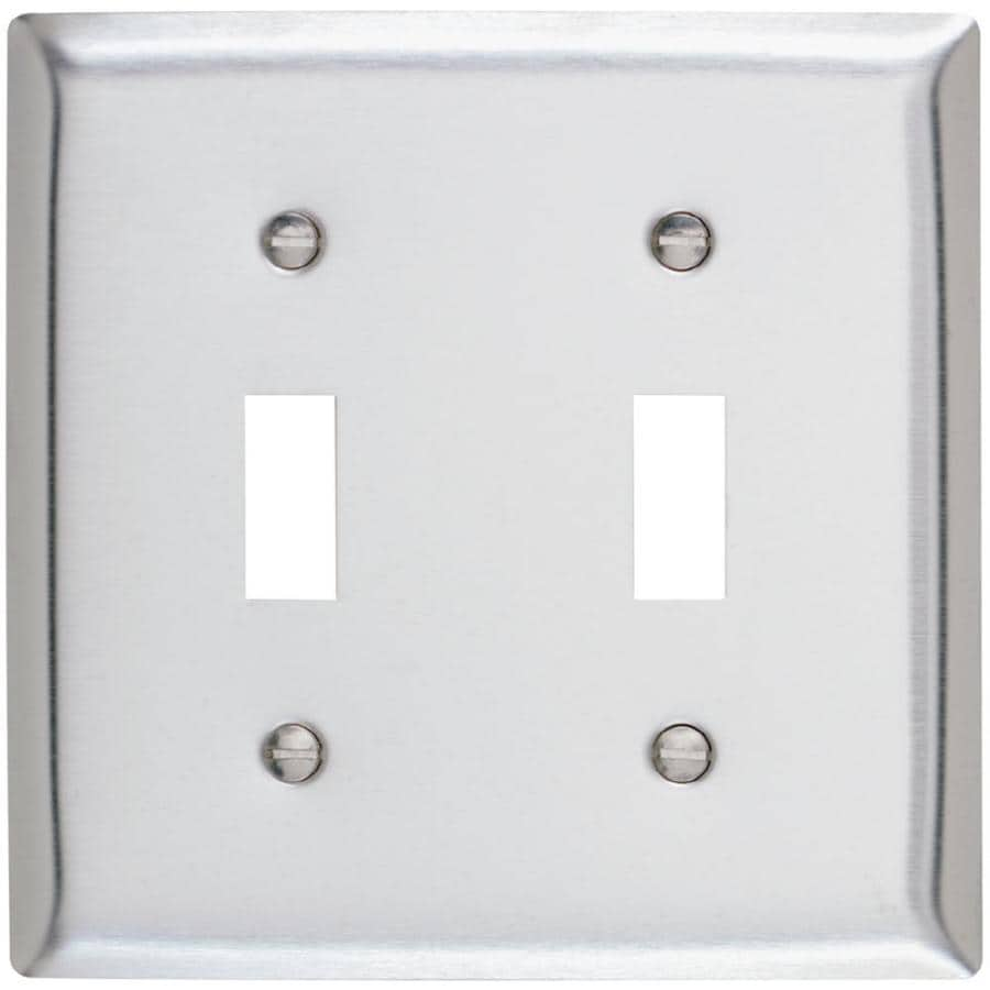 Pass & Seymour/Legrand 2-Gang Stainless Steel Toggle Wall Plate