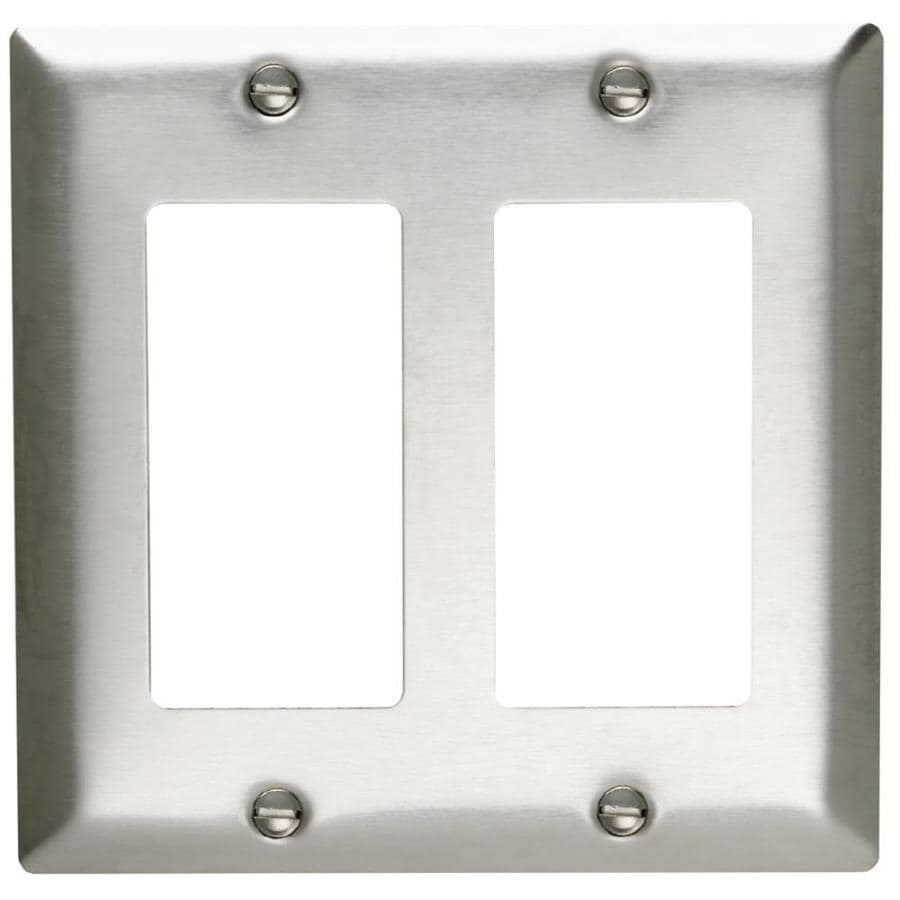 Pass & Seymour/Legrand 2-Gang Stainless Steel Double Decorator Wall Plate
