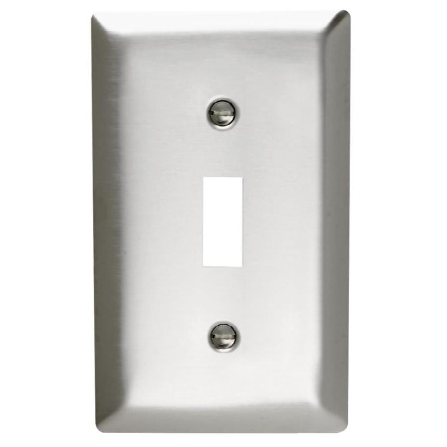 Pass & Seymour/Legrand 1-Gang Stainless Steel Toggle Wall Plate