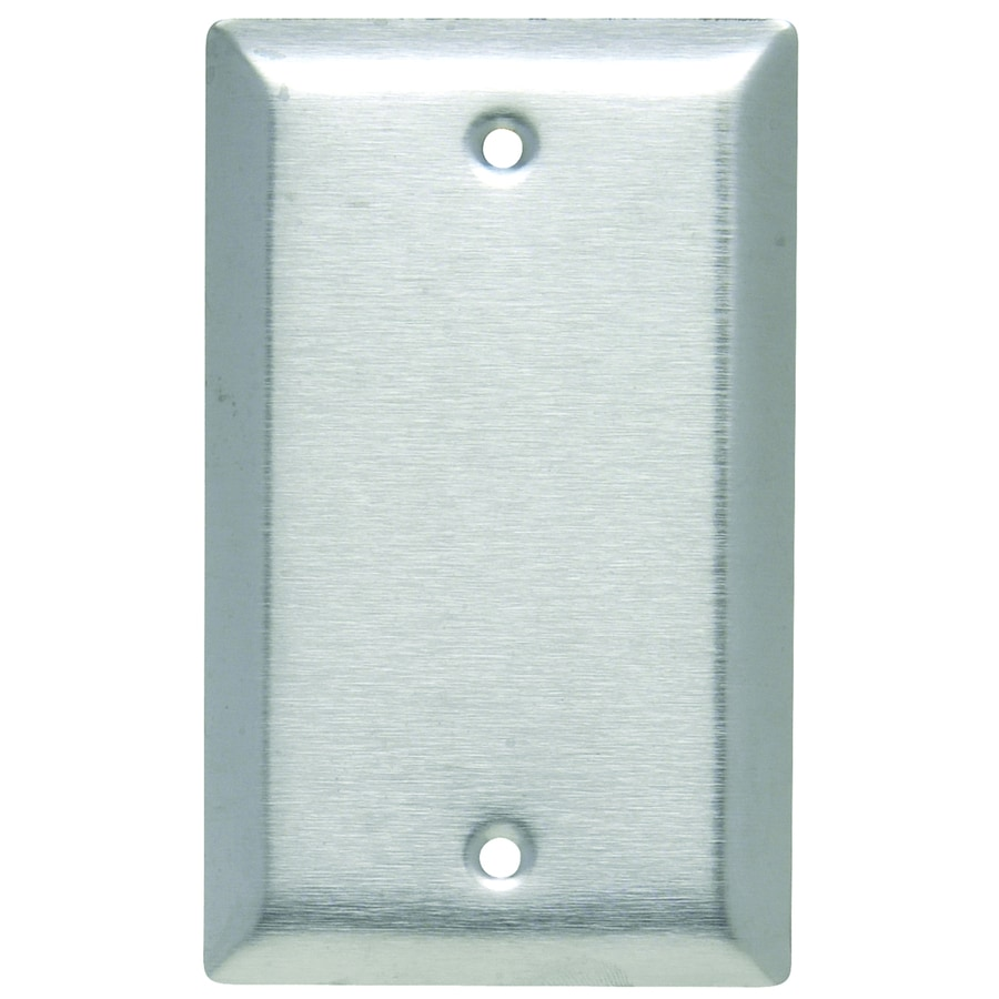 Pass & Seymour/Legrand 1-Gang Stainless Steel Single Blank Wall Plate