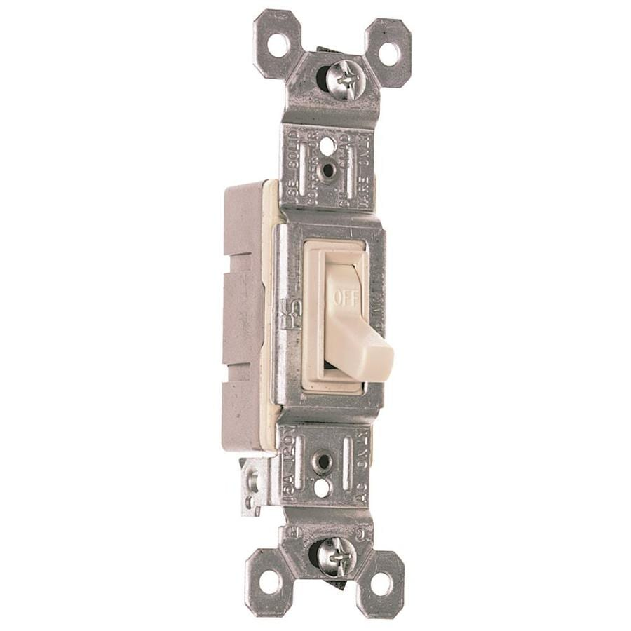 Pass & Seymour/Legrand 15/20-amp Single Pole 3-way Light Almond Rocker Indoor Light Switch