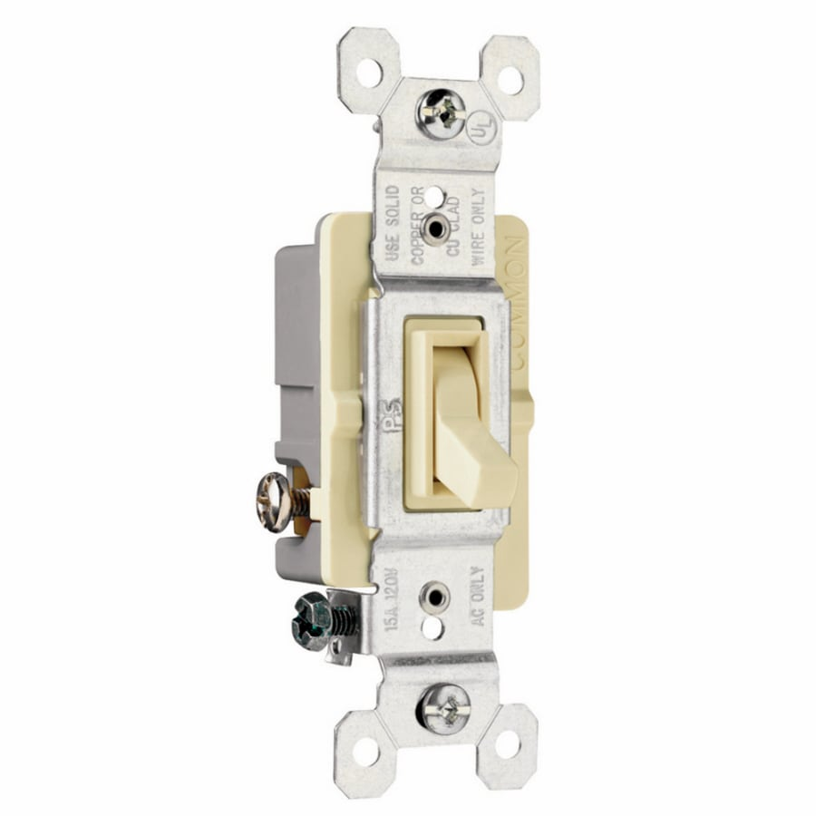 Legrand Single Pole 3-Way Ivory Light Switch