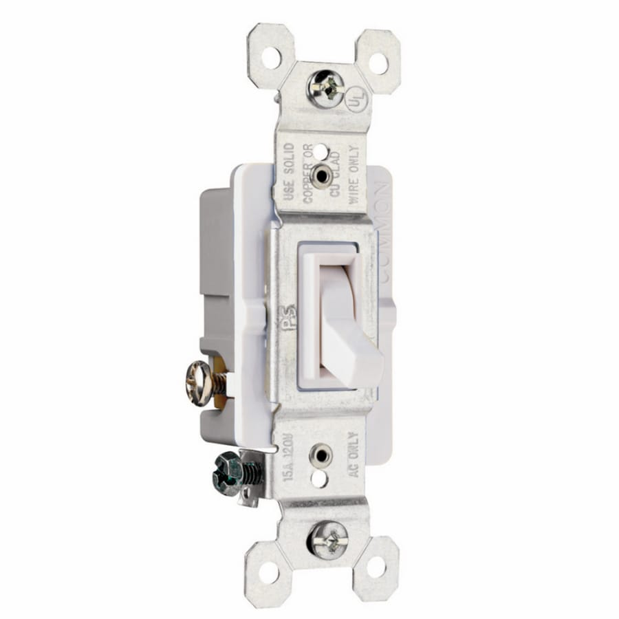 Pass & Seymour/Legrand 15-Amp White 3-Way Light Switch