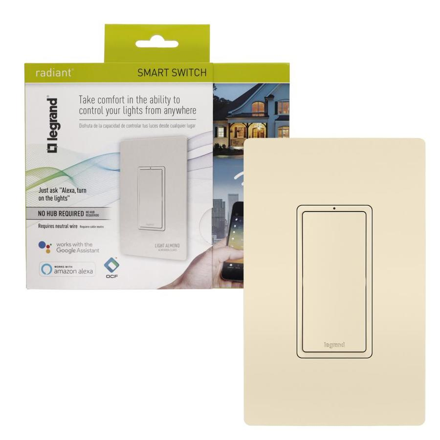 Legrand Smart Switch WiFi Light Almond at Lowes com