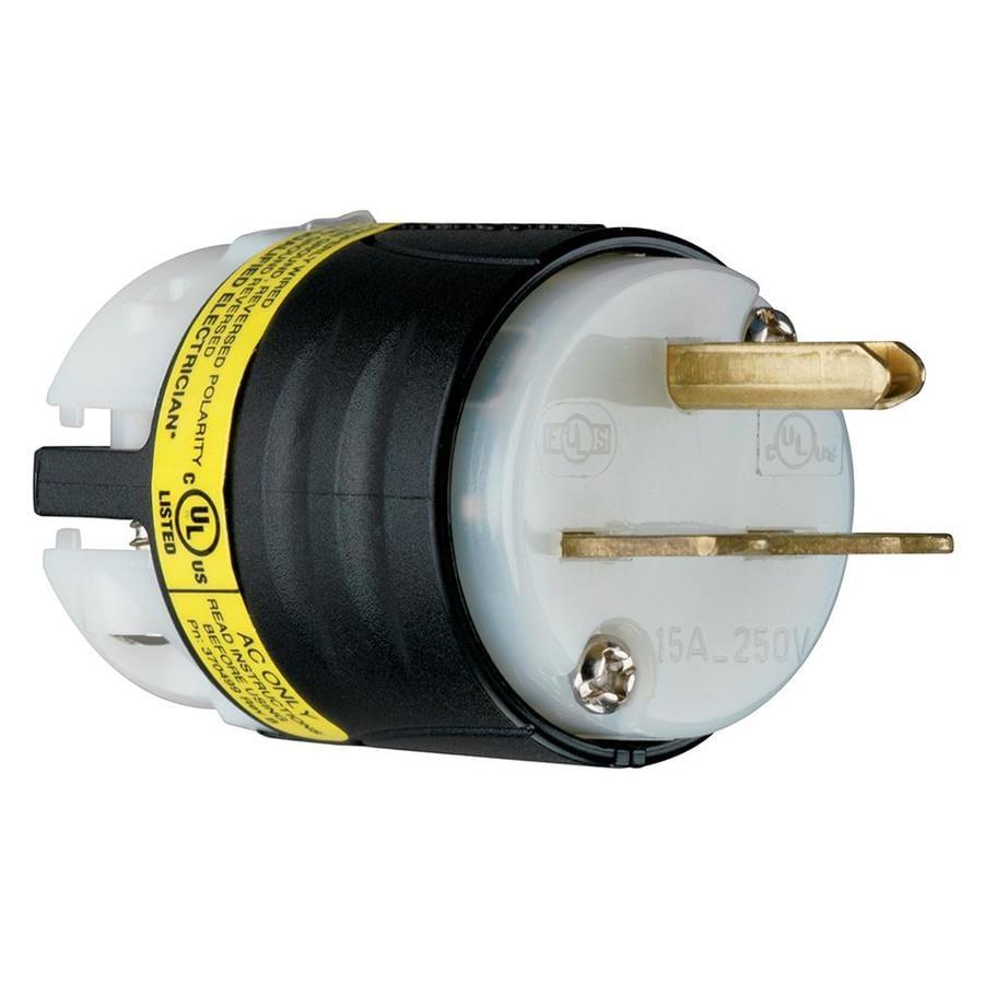 Shop Legrand 15-Amp 120-Volt Black 3-Wire Grounding Plug at Lowes.com