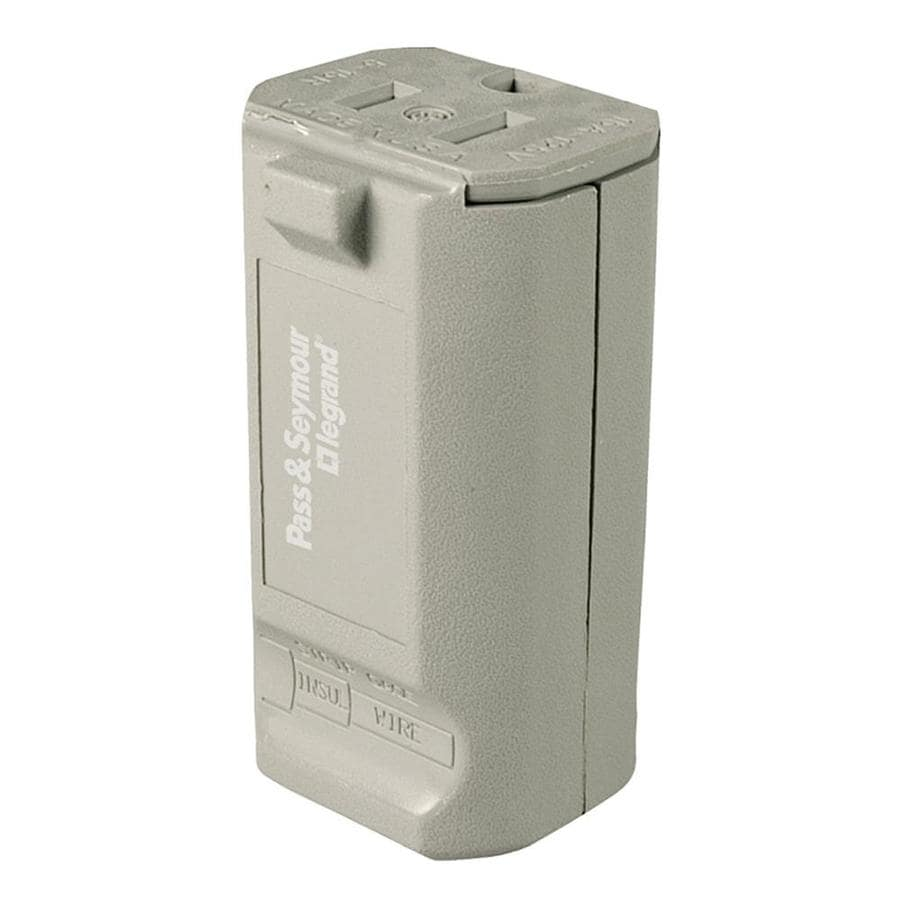 Shop Legrand 20-Amp 125-Volt Gray 3-wire Grounding Connector at ...