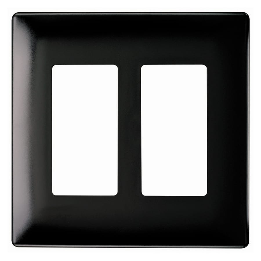 Pass & Seymour/Legrand 2-Gang Black Decorator Wall Plate