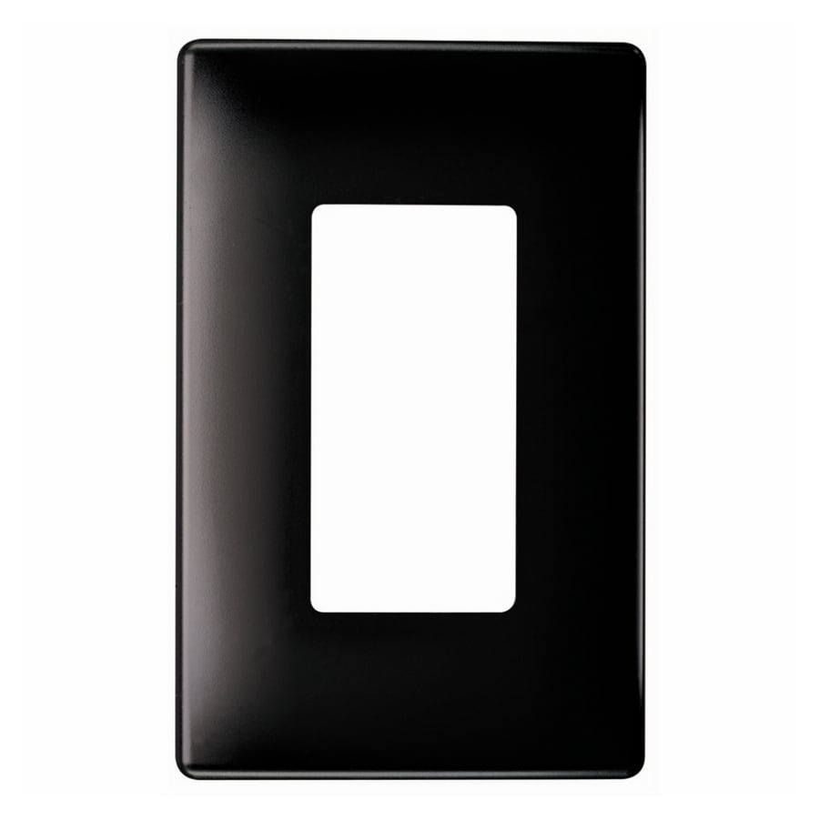 Pass & Seymour/Legrand 1-Gang Black Decorator Wall Plate