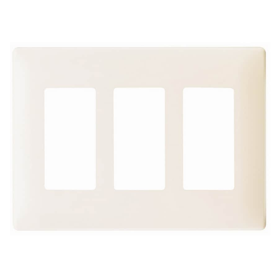 Pass & Seymour/Legrand 3-Gang Light Almond Decorator Wall Plate