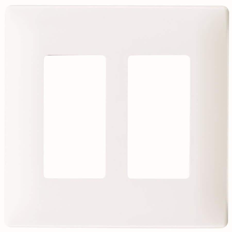 Pass & Seymour/Legrand 2-Gang White Decorator Wall Plate