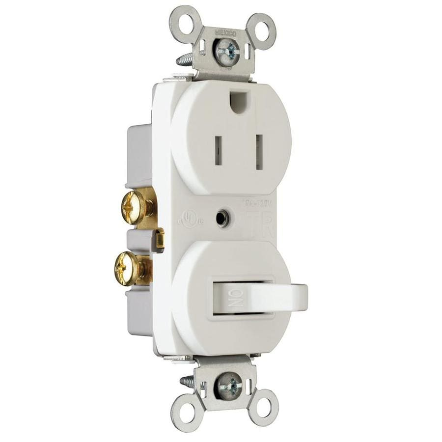 Shop Legrand 15-Amp White Combination Switch Outlet at Lowes.com
