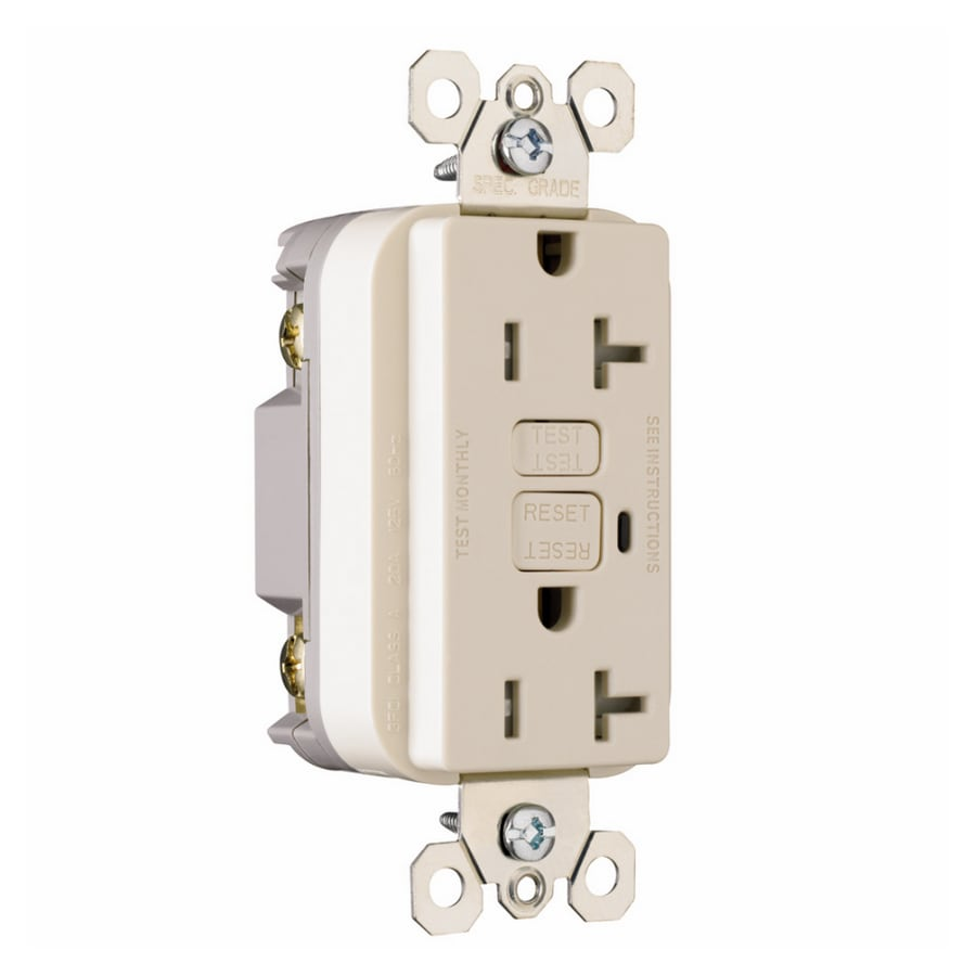 Shop Pass Seymour Legrand 20 Amp 125 Volt Light Almond Gfci Ivory Electrical Outlets Switches 15a Gfi Outlet Decorator Tamper