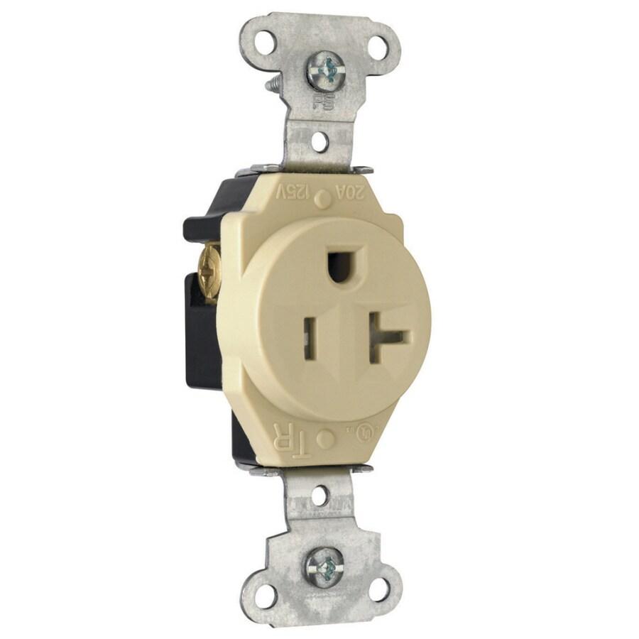 Legrand 20-Amp 125-Volt Ivory Indoor Duplex Wall Tamper Resistant Outlet
