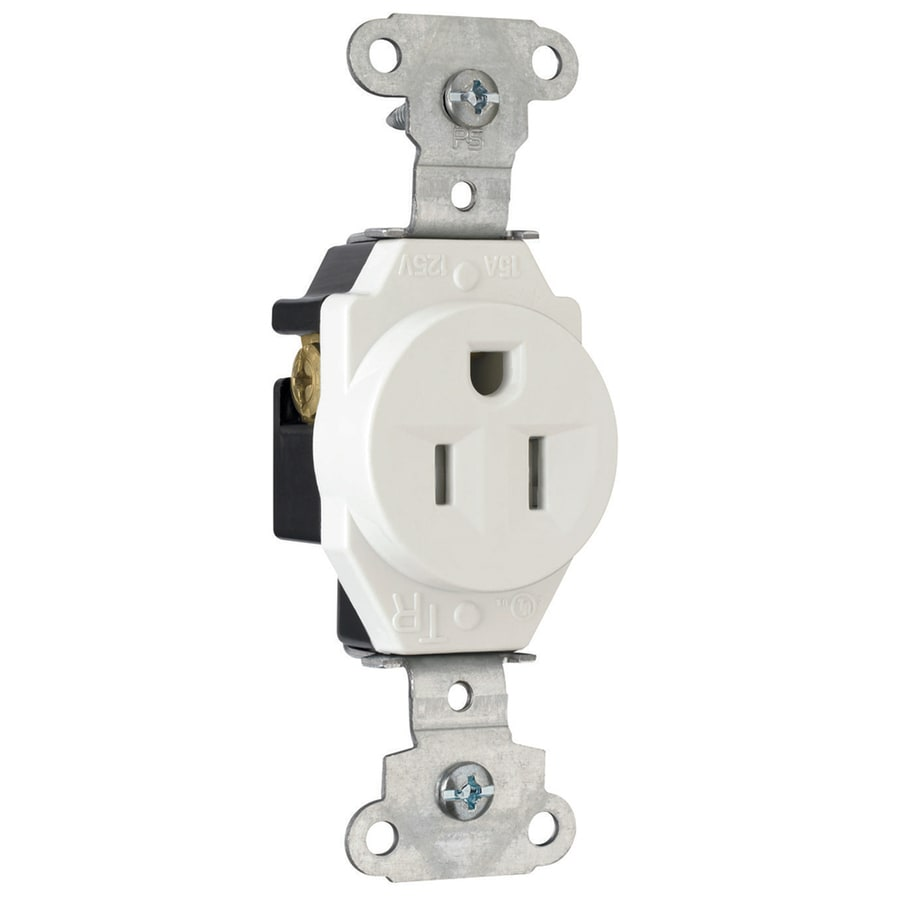 Pass & Seymour/Legrand 15-Amp 125-Volt White Tamper Resistant Electrical Outlet