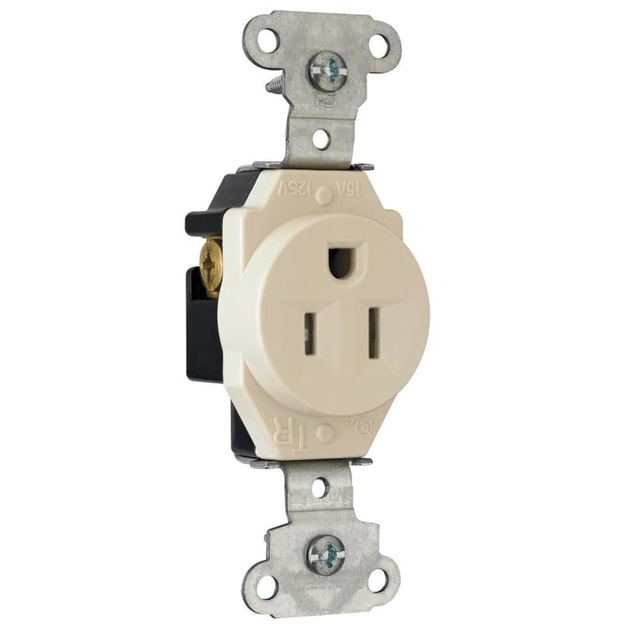 Pass & Seymour/Legrand 15-Amp 125-Volt Light Almond Tamper Resistant Electrical Outlet