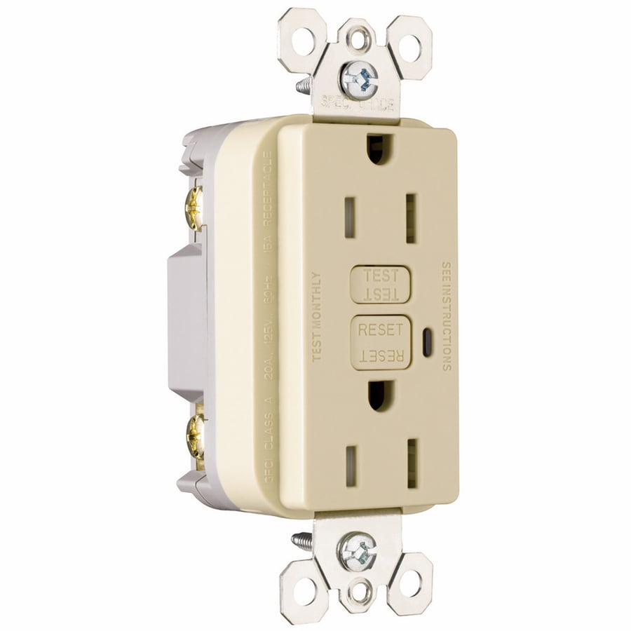 Pass & Seymour/Legrand 3-Pack 15-Amp 125-Volt Ivory GFCI Decorator Tamper Resistant Electrical Outlet