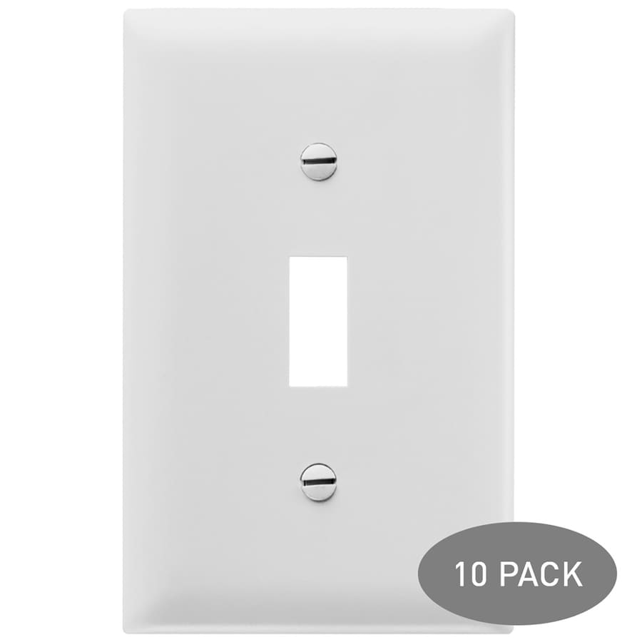 Pass & Seymour/Legrand Trademaster 10-Pack 1-Gang White Single Toggle Wall Plates