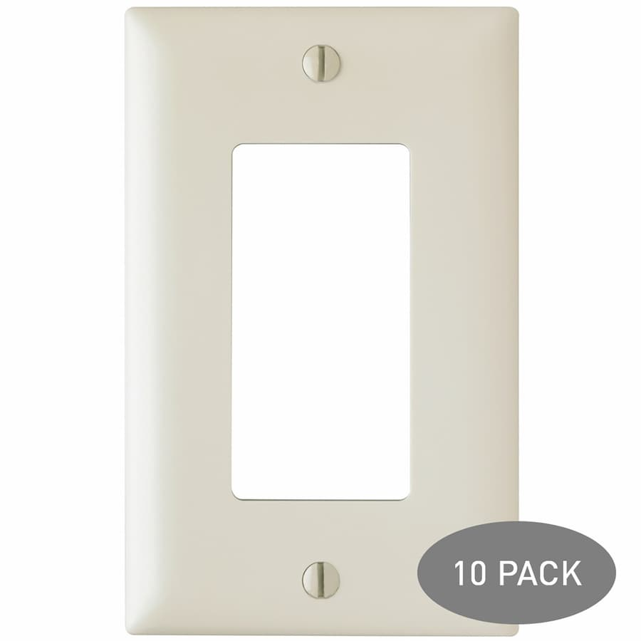 Pass & Seymour/Legrand Trademaster 10-Pack 1-Gang Light Almond Single Decorator Wall Plates