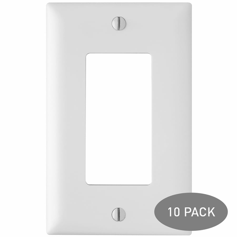 Pass & Seymour/Legrand Trademaster 10-Pack 1-Gang White Single Decorator Wall Plates