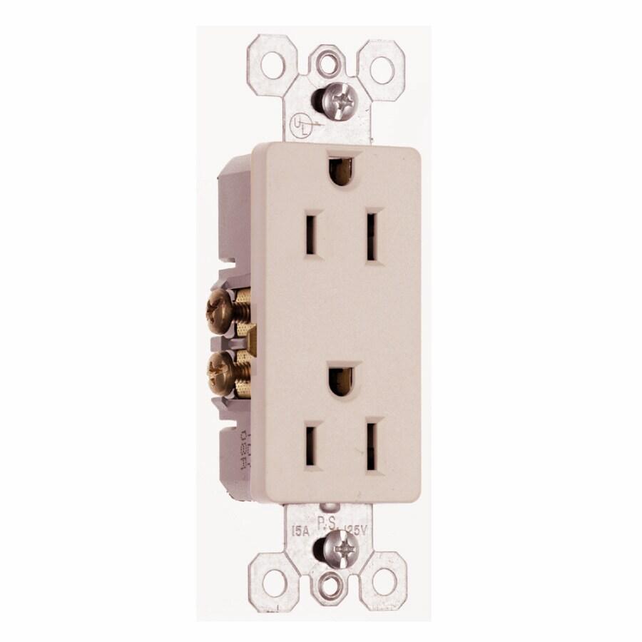 Shop Pass Seymour Legrand 2 Outlet 15 Amp Flush Mount Appliance