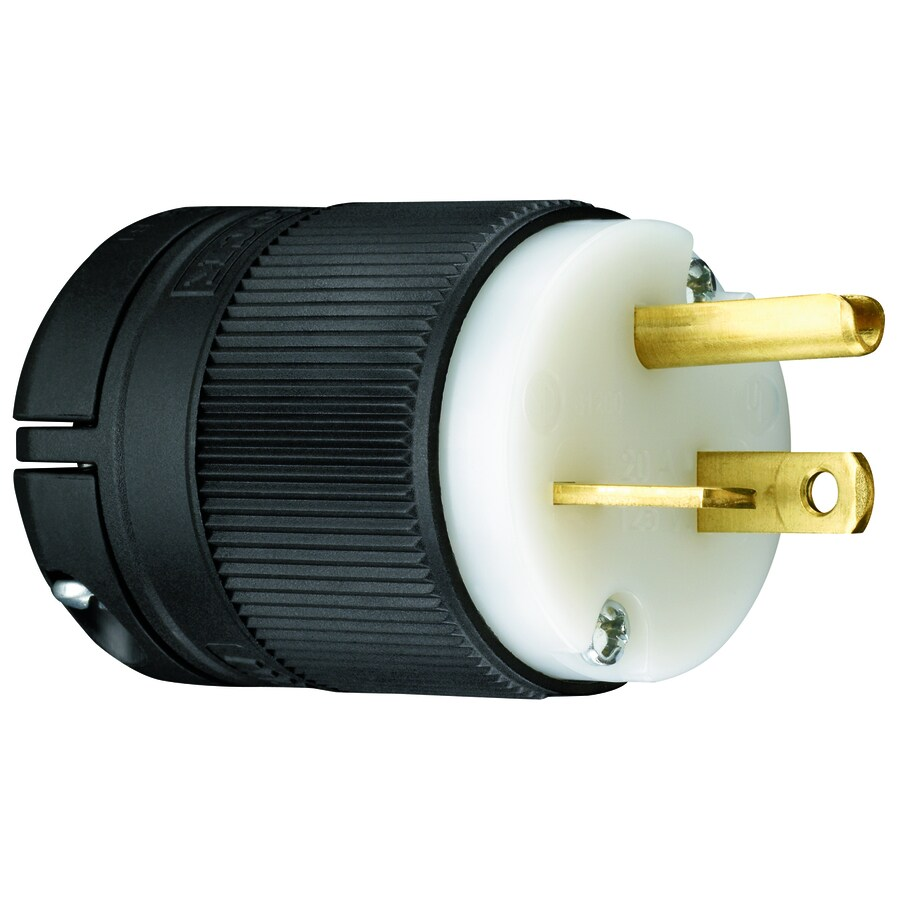 Pass & Seymour/Legrand 20-Amp 125-Volt Black/White 3-Wire Grounding