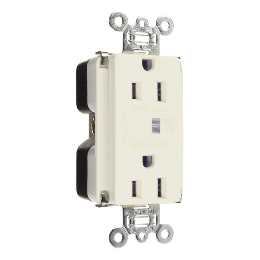 Legrand 15-Amp 125-Volt White Indoor Duplex Wall Outlet