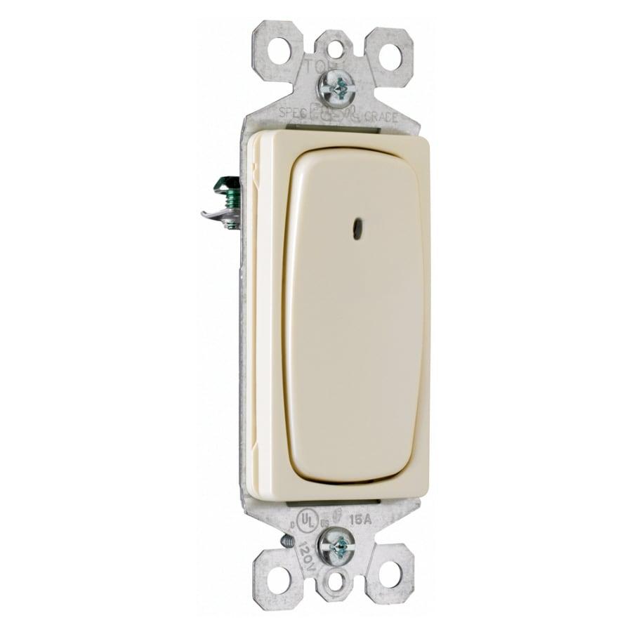 Pass & Seymour/Legrand Single Pole 3-Way Light Almond Light Switch