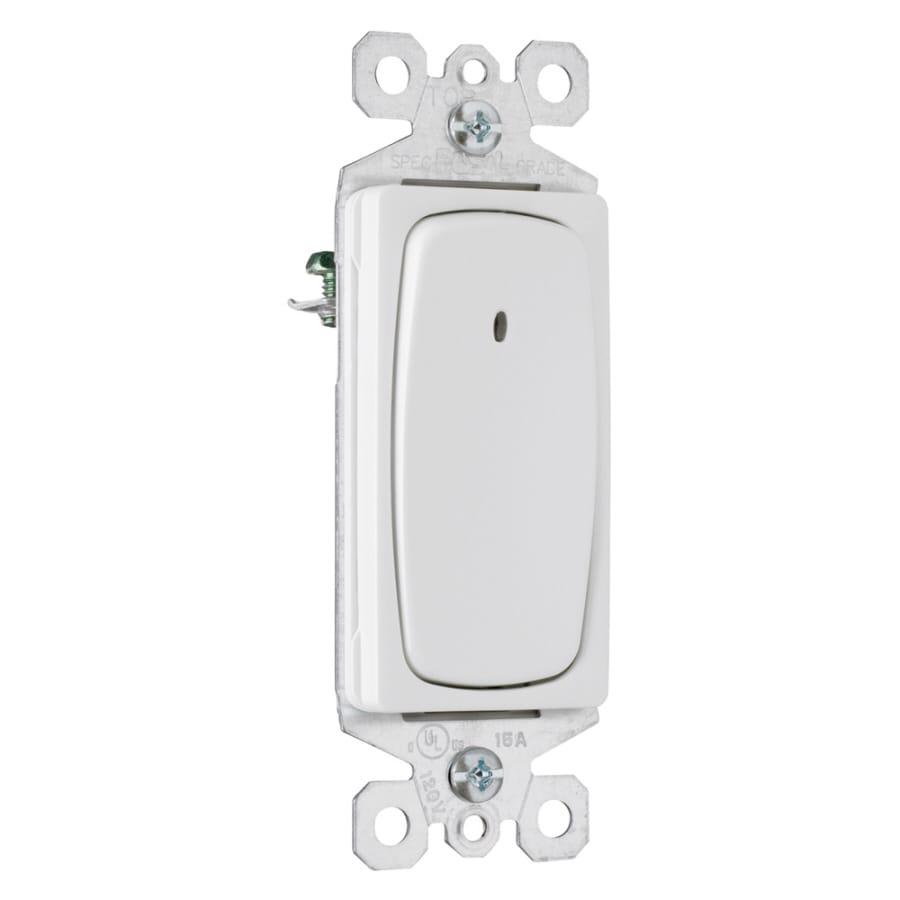 Pass & Seymour/Legrand 15/20-Amp Single Pole 3-way White Rocker Indoor Light Switch