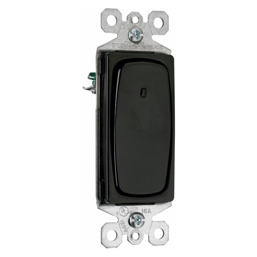 Pass & Seymour/Legrand Single Pole 3-Way Black Light Switch