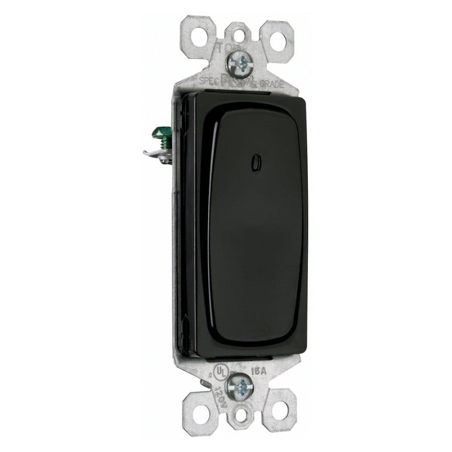 Pass & Seymour/Legrand Single Pole Black Light Switch