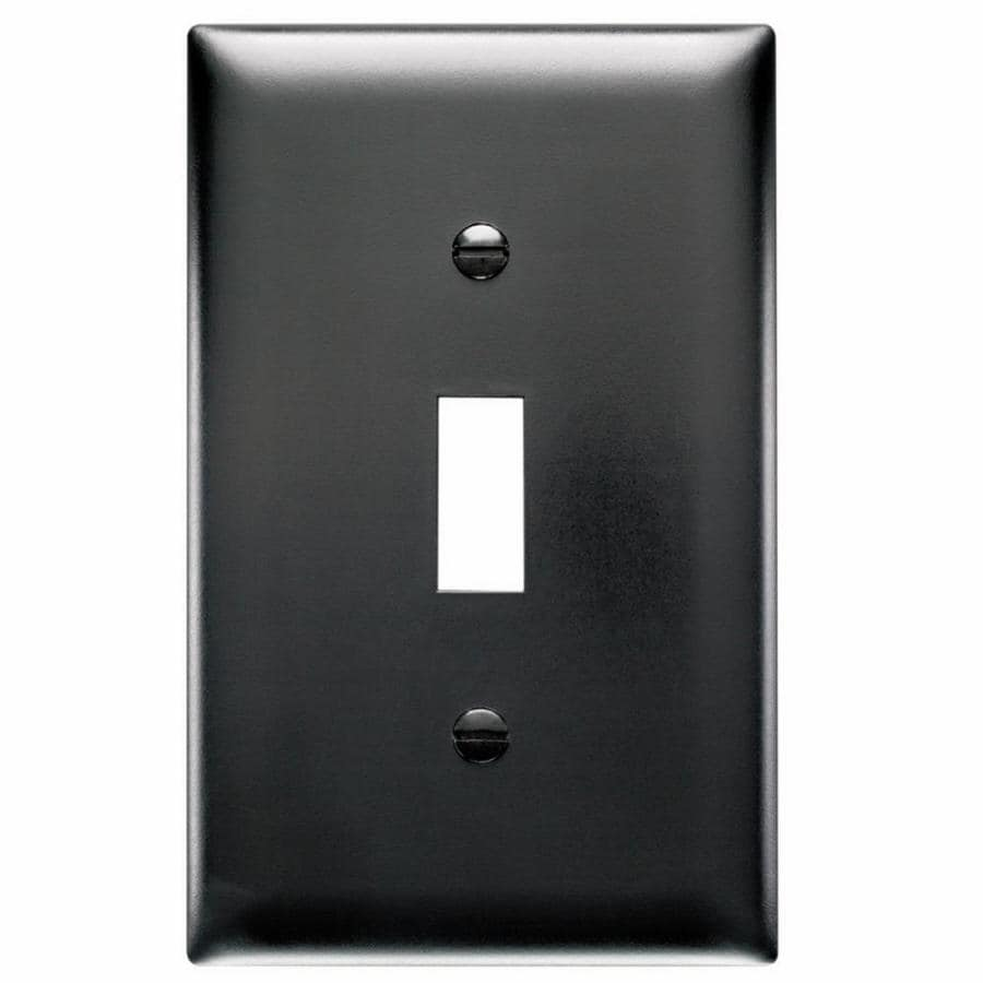 Pass & Seymour/Legrand Trademaster 1-Gang Black Single Toggle Wall Plate