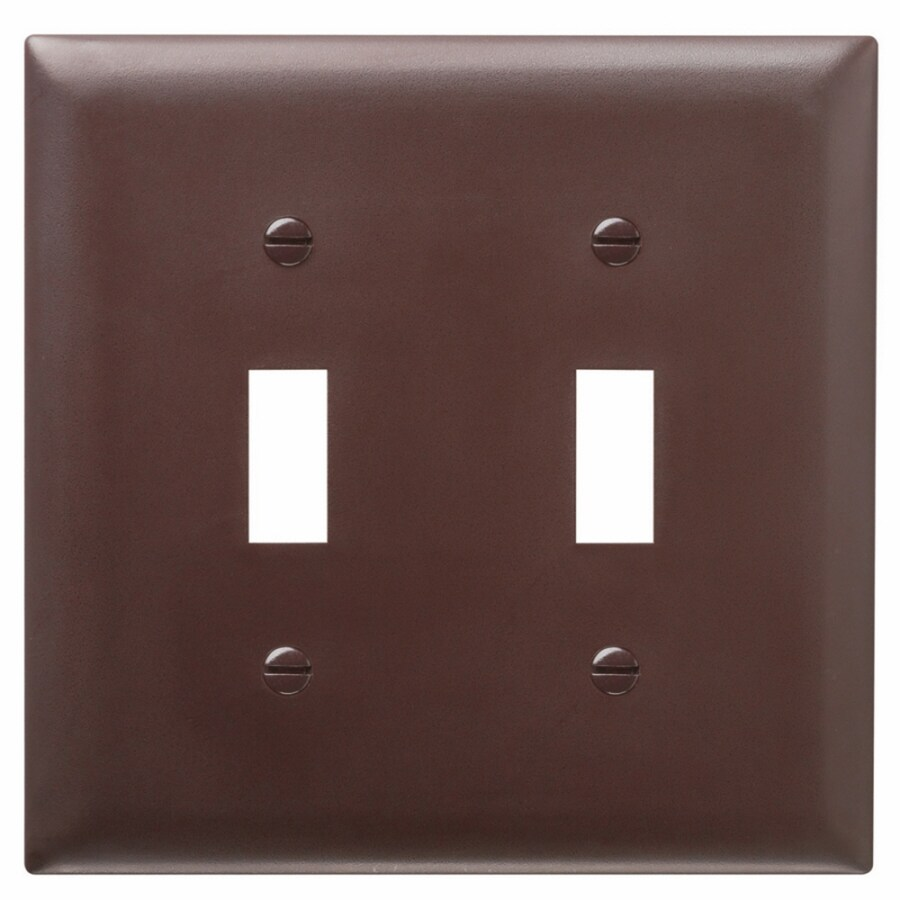 Pass & Seymour/Legrand Trademaster 2-Gang Brown Double Toggle Wall Plate
