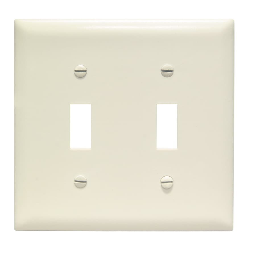 Pass & Seymour/Legrand Trademaster 2-Gang Light Almond Double Toggle Wall Plate