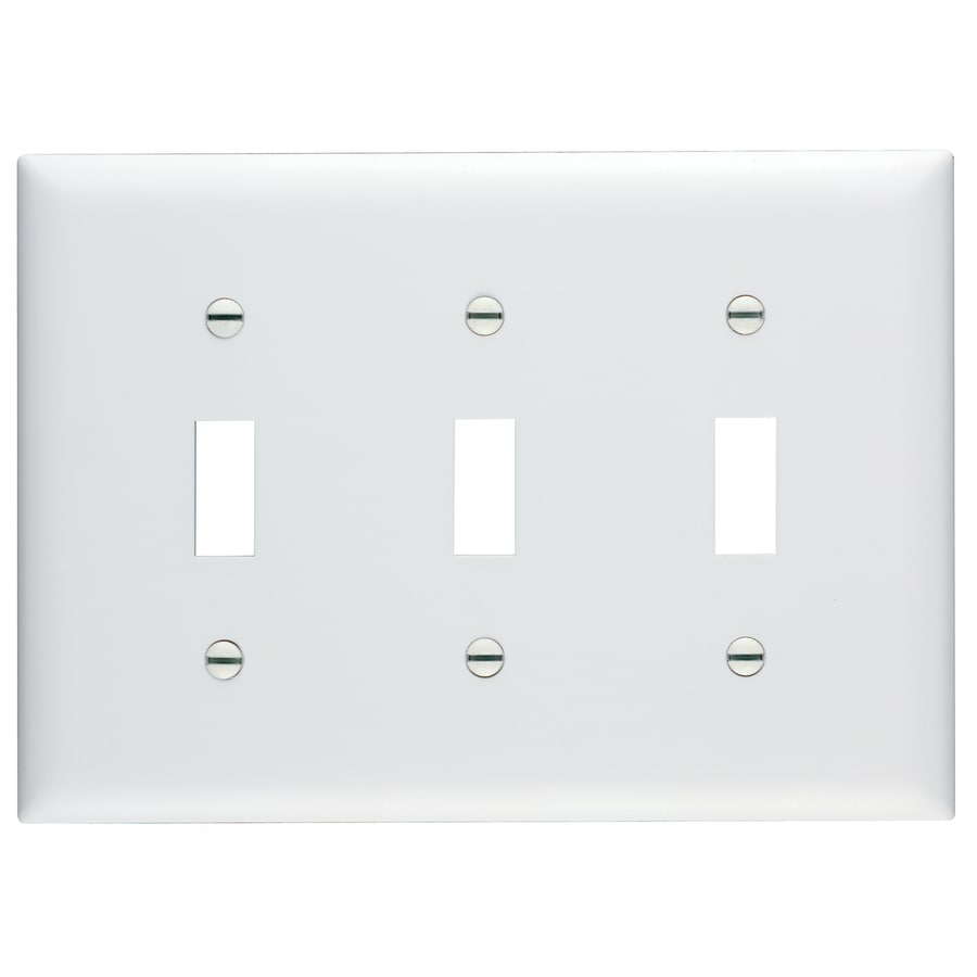 Pass & Seymour/Legrand Trademaster 3-Gang White Triple Toggle Wall Plate