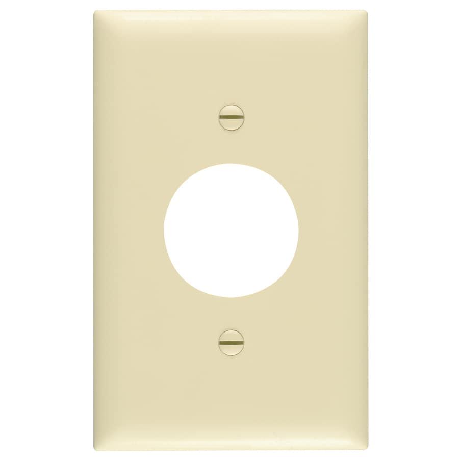 Pass & Seymour/Legrand Trademaster 1-Gang Ivory Single Round Wall Plate