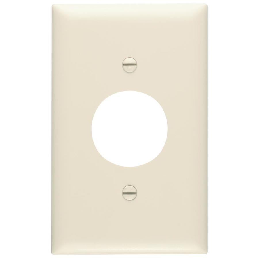 Pass & Seymour/Legrand Trademaster 1-Gang Light Almond Single Round Wall Plate