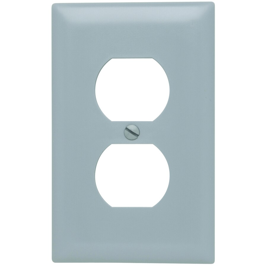 Pass & Seymour/Legrand Trademaster 1-Gang Gray Single Duplex Wall Plate