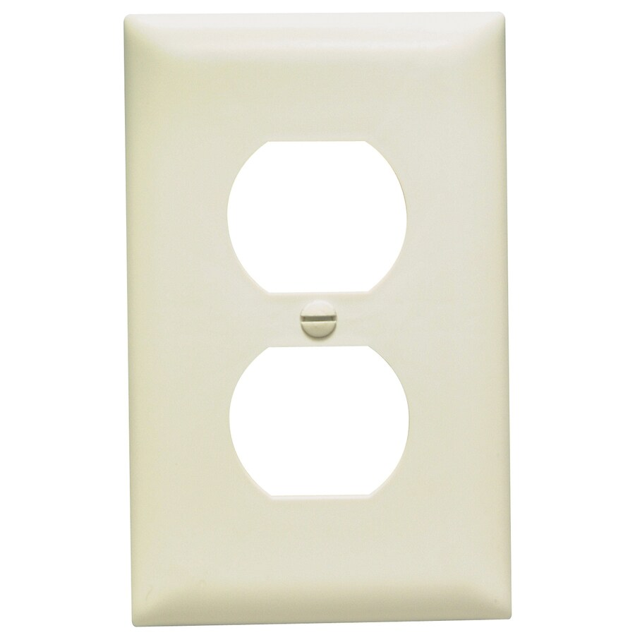 Pass & Seymour/Legrand Trademaster 1-Gang Light Almond Single Duplex Wall Plate
