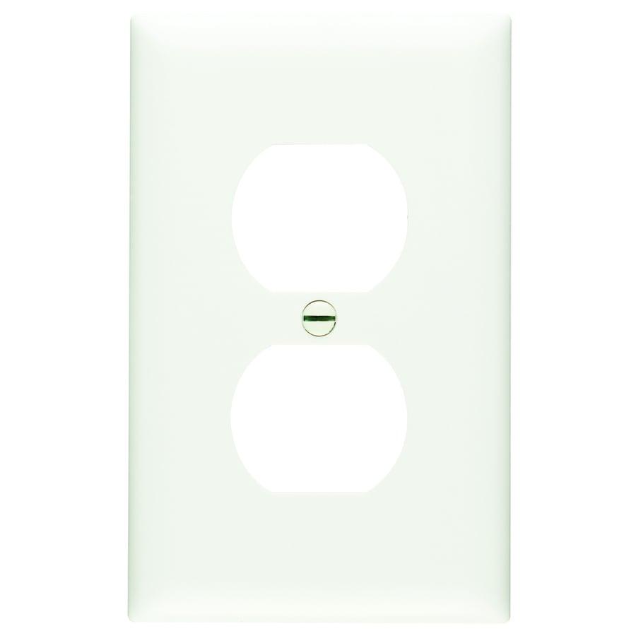 Pass & Seymour/Legrand Trademaster 1-Gang White Single Duplex Wall Plate