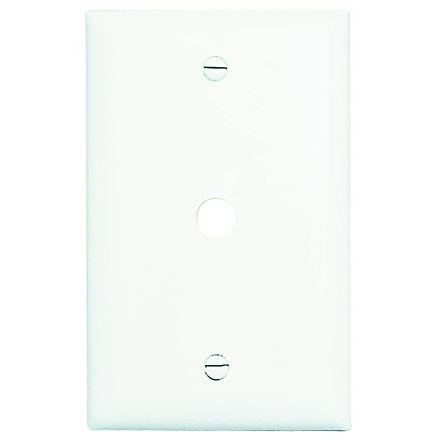 Pass & Seymour/Legrand Trademaster 1-Gang White Single Coaxial Wall Plate Adapter