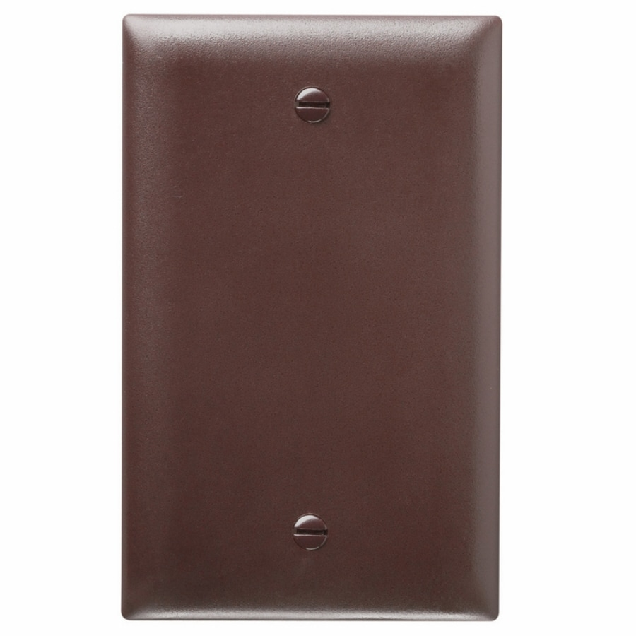 Legrand Trademaster 1-Gang Brown Single Blank Wall Plate