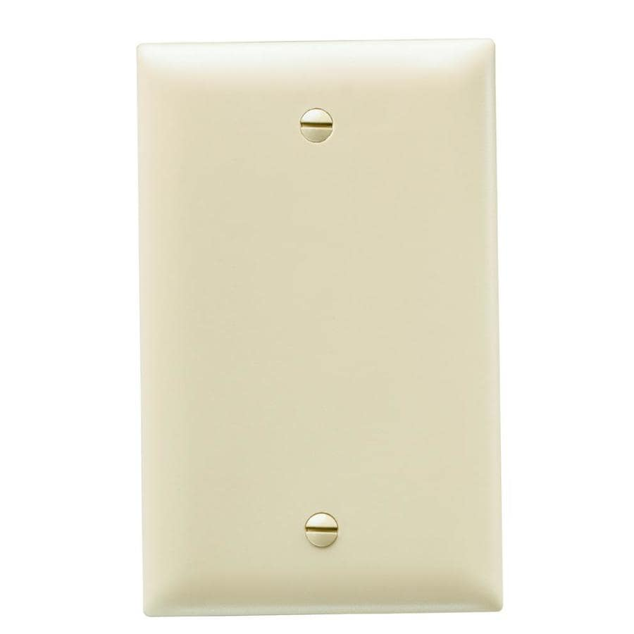 Legrand Trademaster 1-Gang Ivory Single Blank Wall Plate