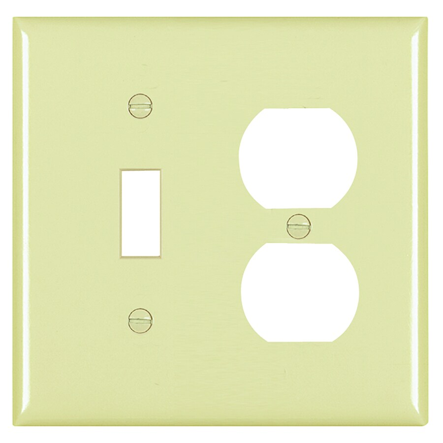 Legrand Trademaster 2-Gang Ivory Double Toggle/Duplex Wall Plate