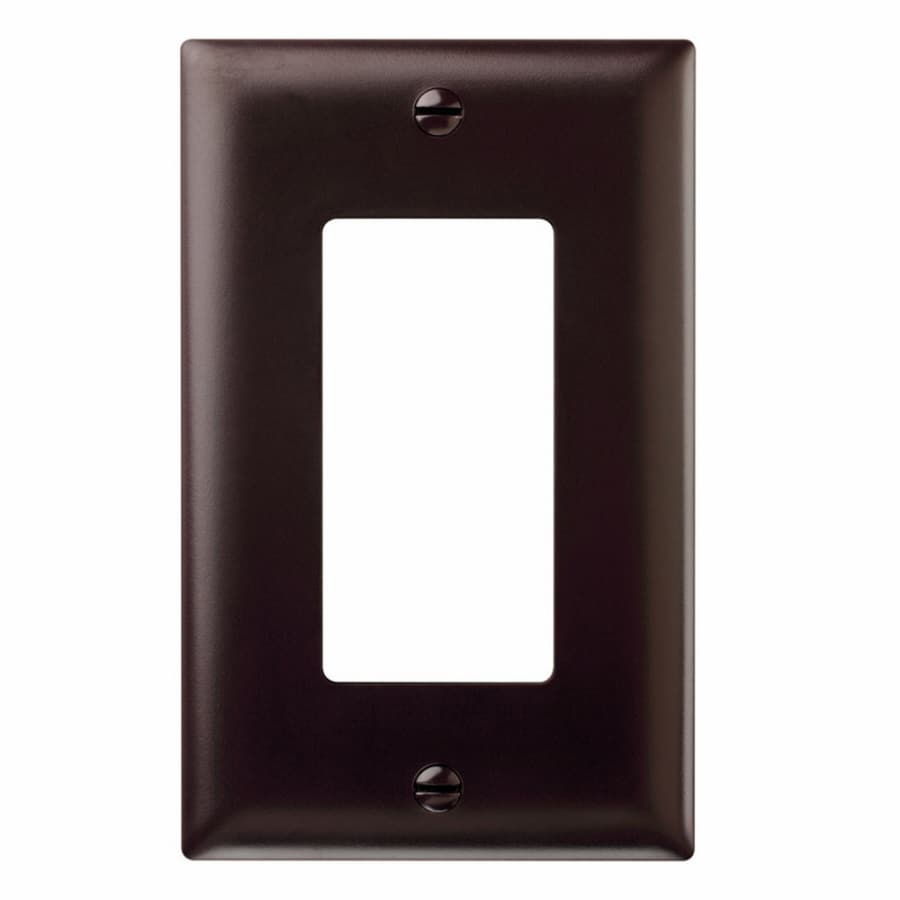 Pass & Seymour/Legrand Trademaster 1-Gang Brown Single Decorator Wall Plate