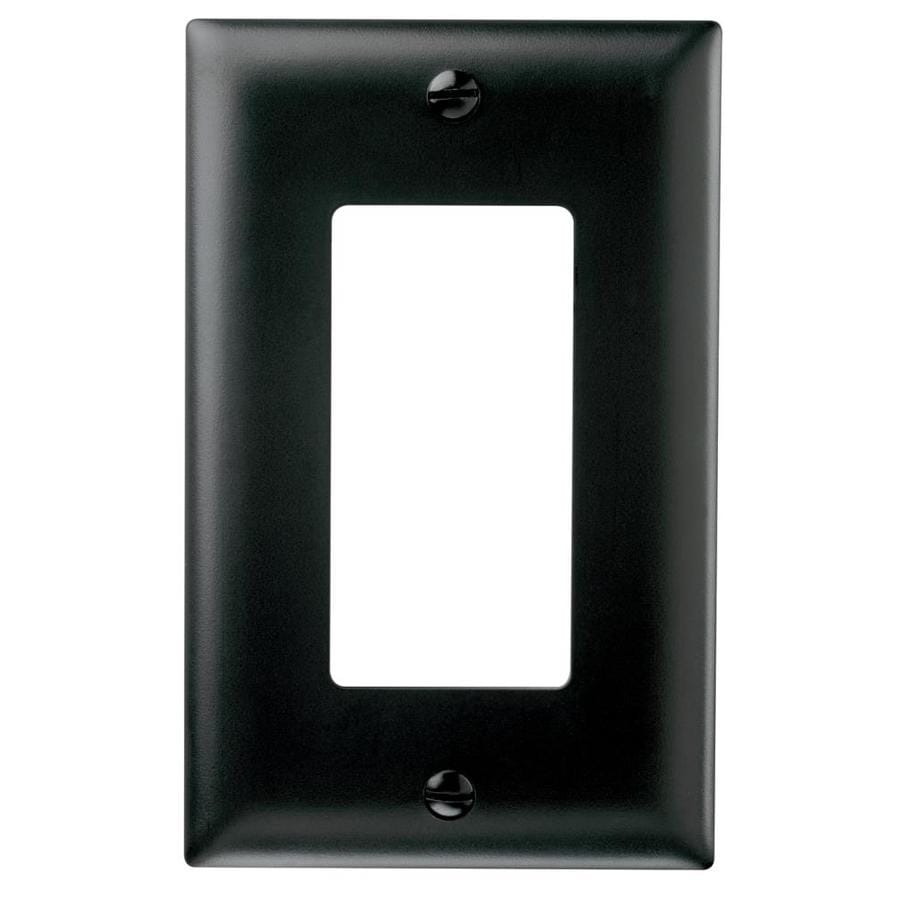 Pass & Seymour/Legrand Trademaster 1-Gang Black Single Decorator Wall Plate