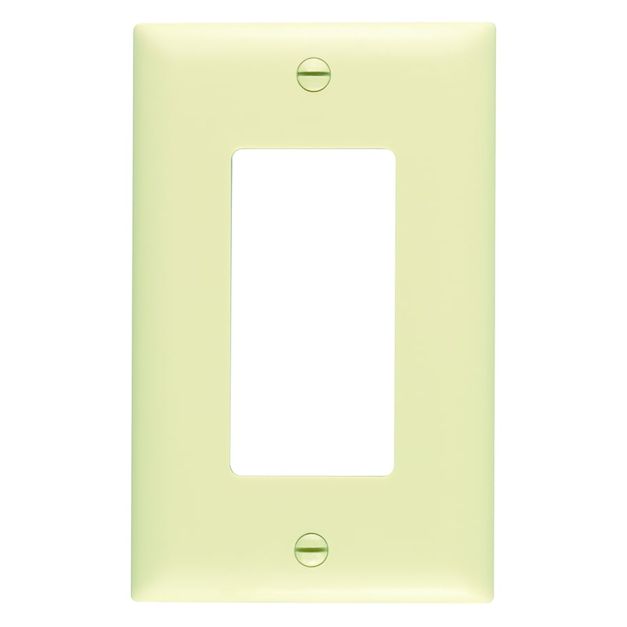 Pass & Seymour/Legrand Trademaster 1-Gang Ivory Single Decorator Wall Plate