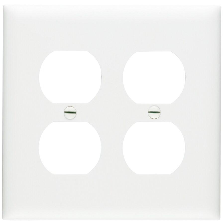 Pass & Seymour/Legrand Trademaster 2-Gang White Double Duplex Wall Plate