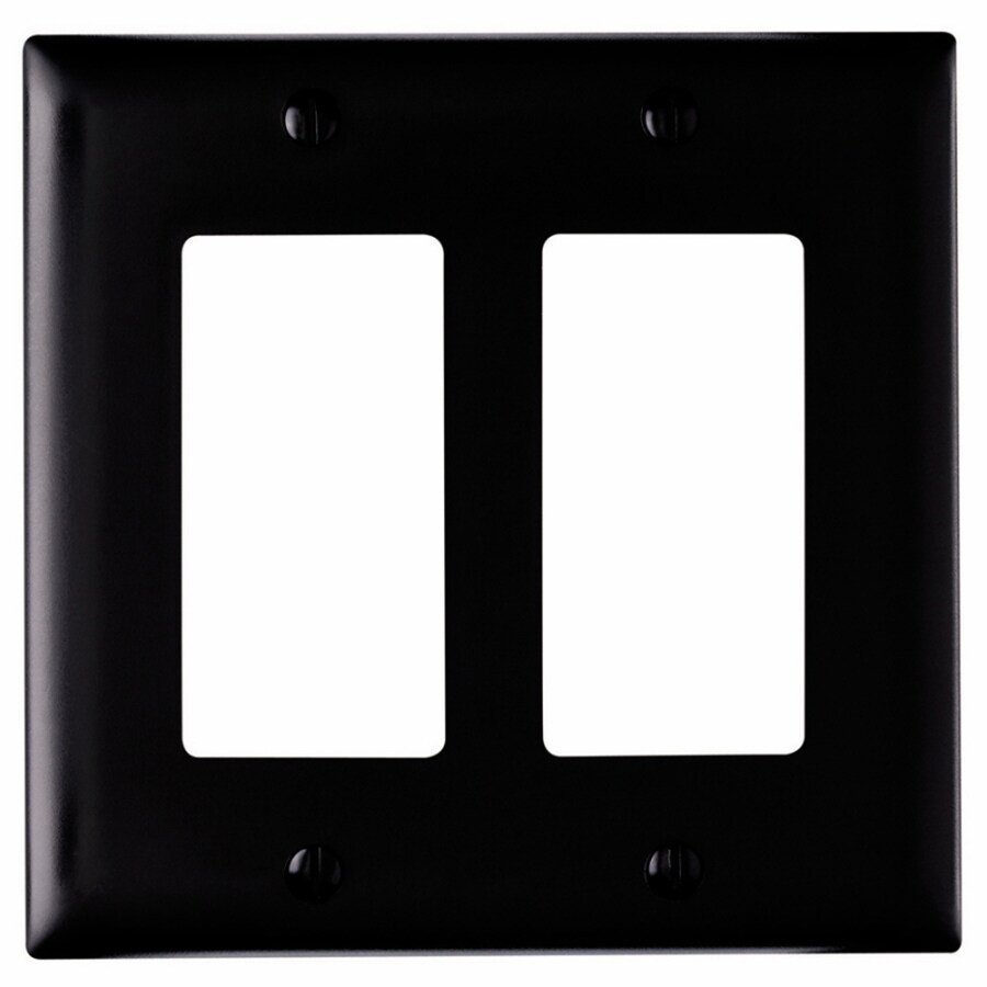Pass & Seymour/Legrand Trademaster 2-Gang Black Double Decorator Wall Plate