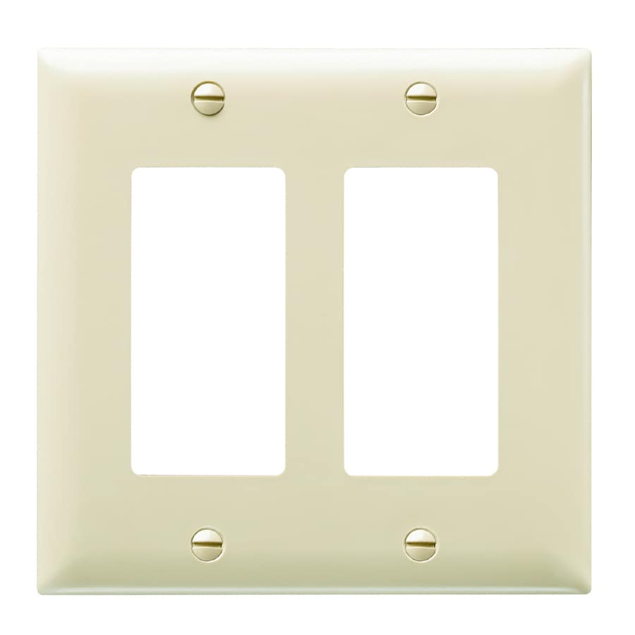 Pass & Seymour/Legrand Trademaster 2-Gang Ivory Double Decorator Wall Plate